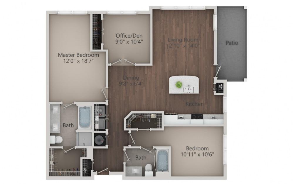 C1 Floor Plan at Varela Westshore Apartments